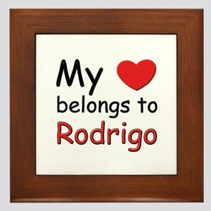 My heart belongs to rodrigo Framed Tile