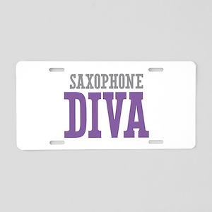 Saxophone DIVA Aluminum License Plate