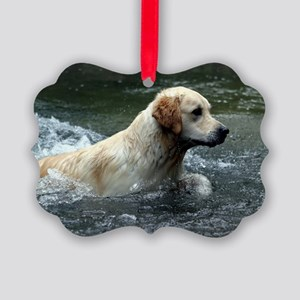Labradoodle greeting Picture Ornament