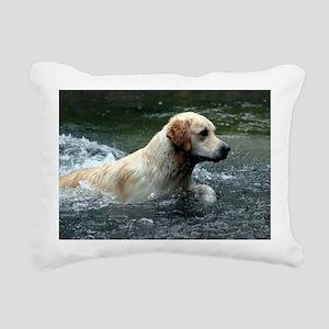Labradoodle greeting Rectangular Canvas Pillow