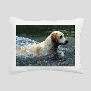 Labradoodle panel print Rectangular Canvas Pillow