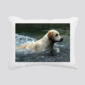 Labradoodle L print Rectangular Canvas Pillow