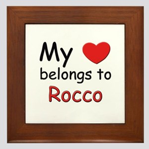 My heart belongs to rocco Framed Tile