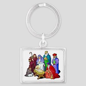 Christmas_nativity_scene Landscape Keychain