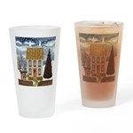 Christmas Cottage Drinking Glass