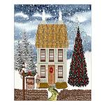 Irish Christmas Cottage Unframed Print