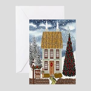 Irish Christmas Cottage Greeting Cards