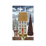 Christmas Cottage 3'x5' Area Rug