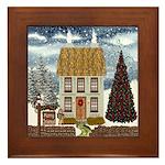 Christmas Cottage Framed Tile