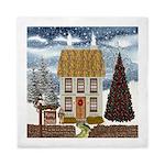Christmas Cottage Queen Duvet