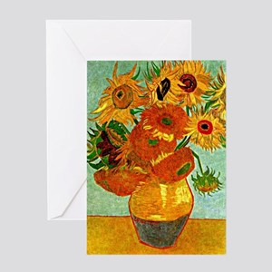 Van Gogh - Still Life Vase with Twel Greeting Card