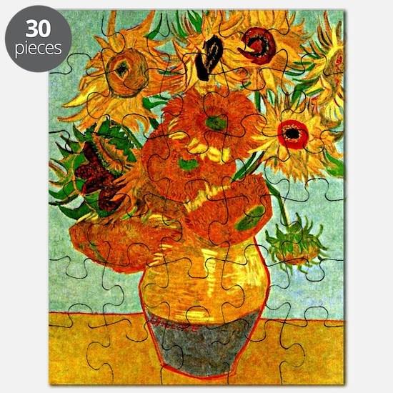 Van Gogh - Still Life Vase with Twelve Sunf Puzzle