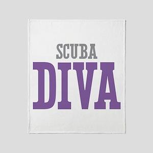 Scuba DIVA Throw Blanket