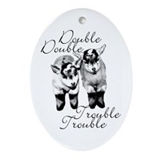Double Trouble Twins Oval Ornament