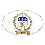 AMIOT Family Crest Oval Sticker