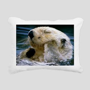 beaver calendar Rectangular Canvas Pillow