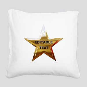 Superstar Square Canvas Pillow