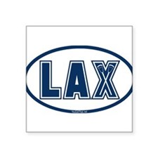 Lacrosse Oval LAX Blue Sticker