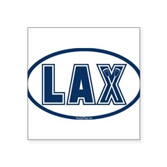 Lacrosse Oval LAX Blue Sticker