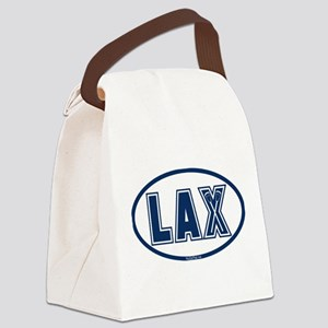 Lacrosse Oval LAX Blue Canvas Lunch Bag