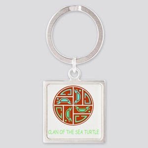CLAN OF THE SEA TURTLE Square Keychain