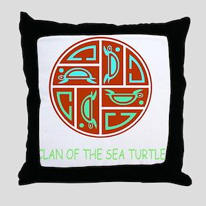 CLAN OF THE SEA TURTLE Throw Pillow