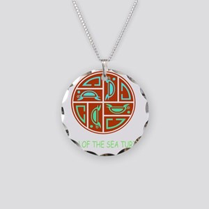 CLAN OF THE SEA TURTLE Necklace Circle Charm