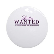 Ladies Wanted Ornament (Round)