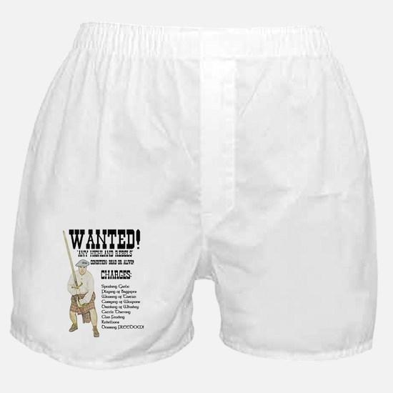 wanted-highlanders001e Boxer Shorts