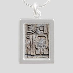 glyps1 Silver Portrait Necklace