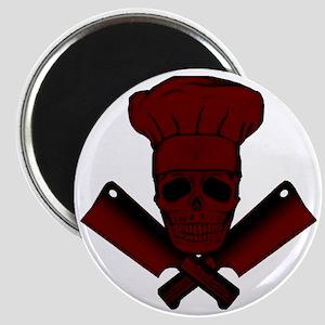 Chef_Skull_dkred Magnet