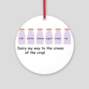 Cream of the crop Ornament (Round)