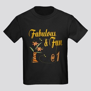 Fabulous Fun 1st Kids Dark T-Shirt