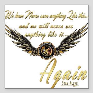 "Katniss-I AM the Mockingjay Square Car Magnet 3"" x"