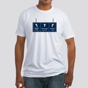 Ashrafieh, Airport, Centre Ville Fitted T-Shirt