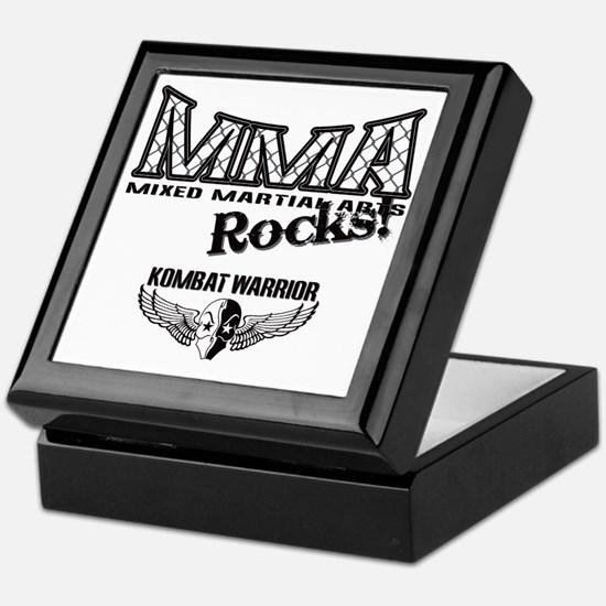 MMA ROCKS CAGE BLACK-GREY Keepsake Box