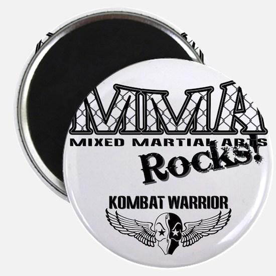 MMA ROCKS CAGE BLACK-GREY Magnet