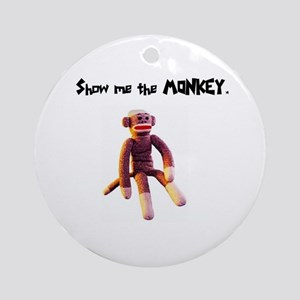 Sock Monkey Items Ornament (Round)