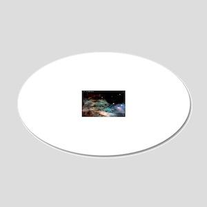 M17 The Omega Nebula Large P 20x12 Oval Wall Decal