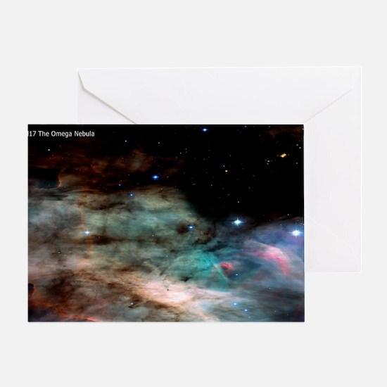 M17 The Omega Nebula Large Poster Greeting Card