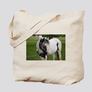 "Gypsy Vanner stallion ""Axel"" Tote Bag"