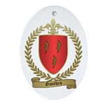 GOUTHRO Family Crest Oval Ornament