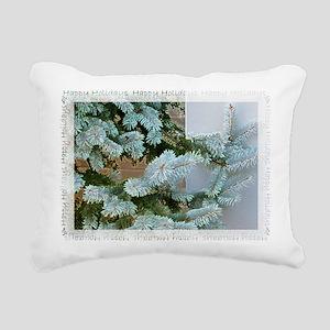blue spruce Christmas Ca Rectangular Canvas Pillow