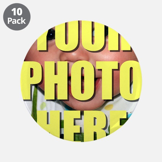 """Personalized Circular Image 3.5"""" Button (10 pack)"""