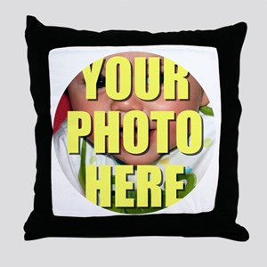 Personalized Circular Image Throw Pillow