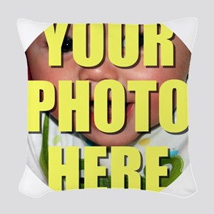 Personalized Circular Image Woven Throw Pillow