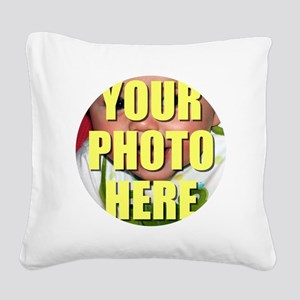 Personalized Circular Image Square Canvas Pillow