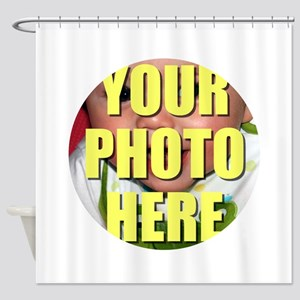 Personalized Circular Image Shower Curtain