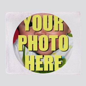 Personalized Circular Image Throw Blanket