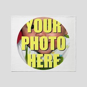 Personalized Circular Image Throw Blanket